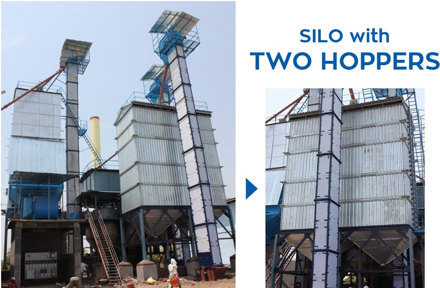 Silos with Two Hoppers