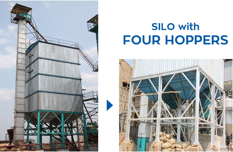 Silos with Four Hoppers